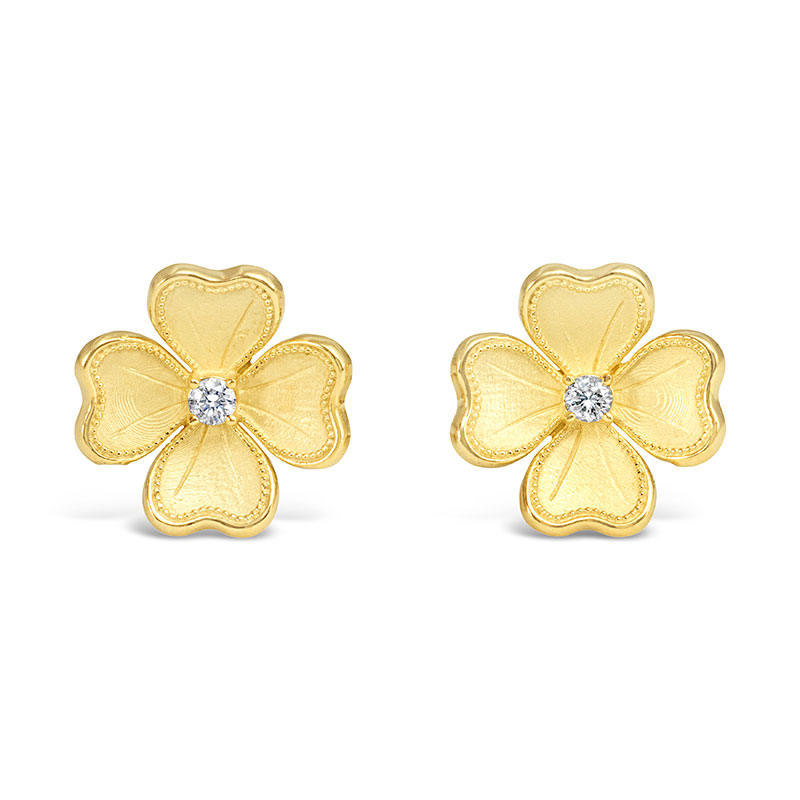 Rudolf Friedmann Gold Flower Earrings