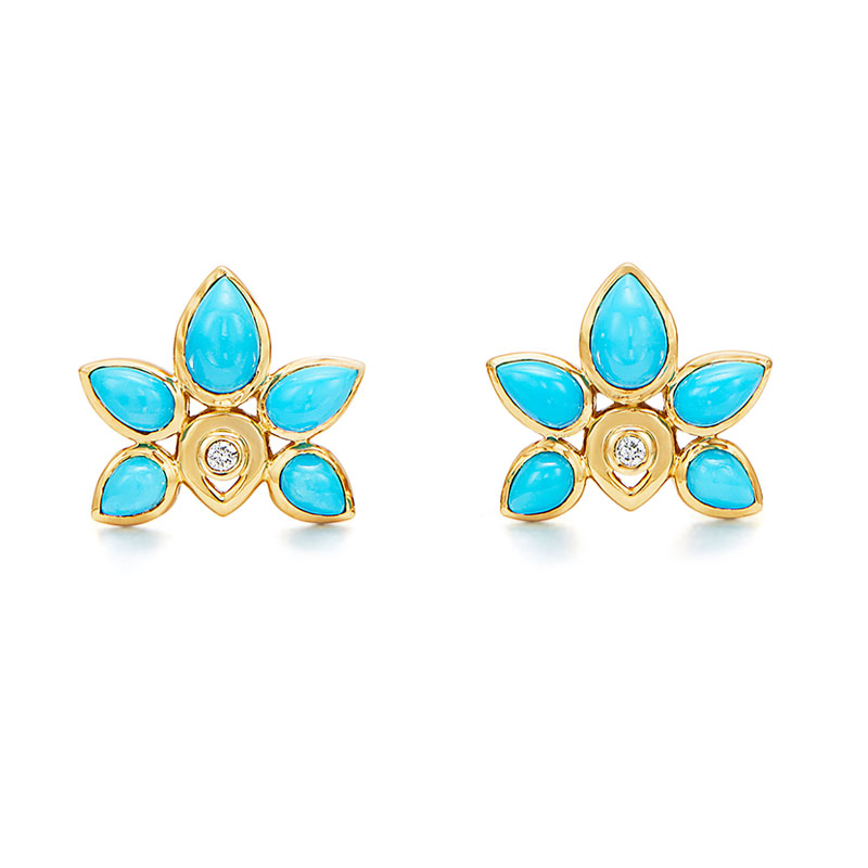 Temple St. Clair Lotus Earring
