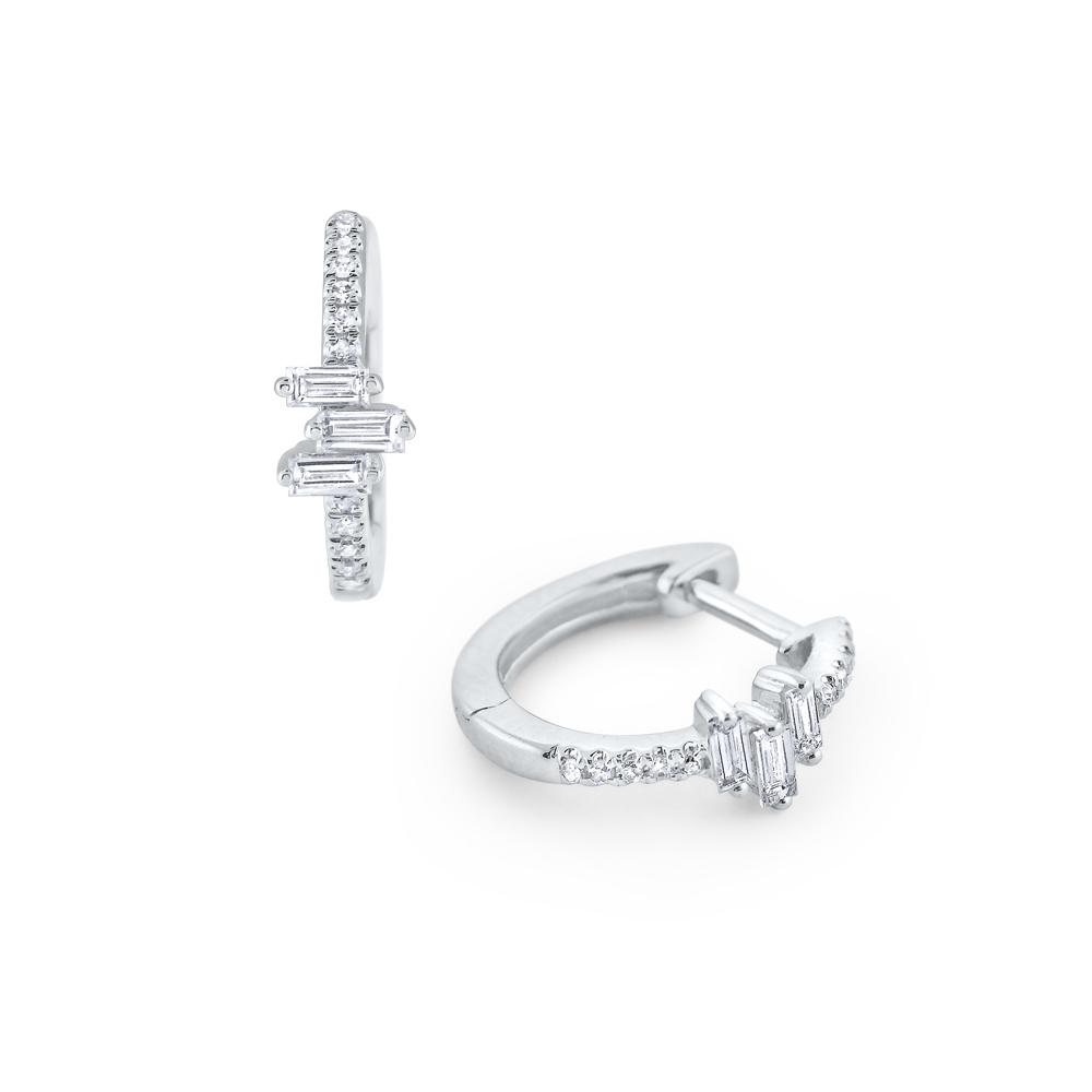 Deutsch Signature Diamond Huggie Hoop Earrings