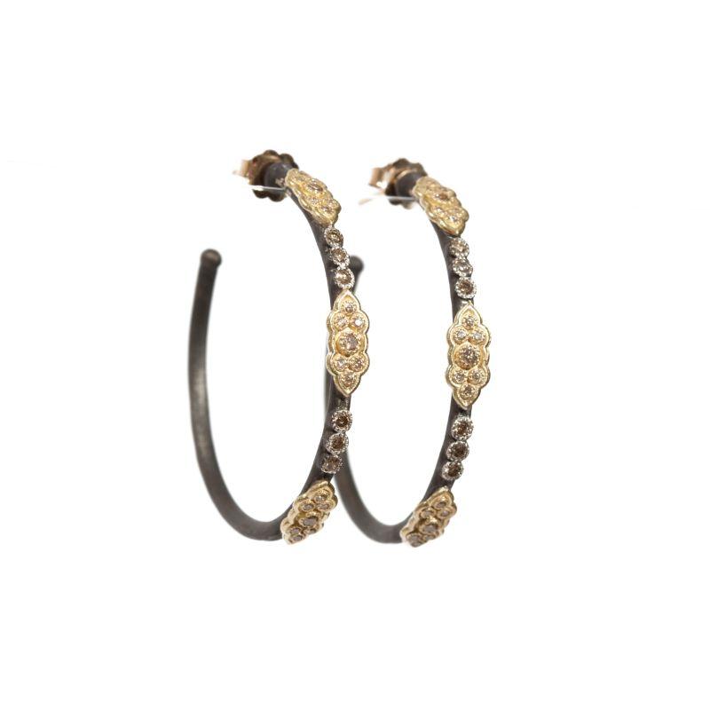 Old World 35Mm Scroll Hoop Earrings