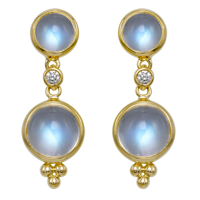 Temple St. Clair Moon Drop Earrings