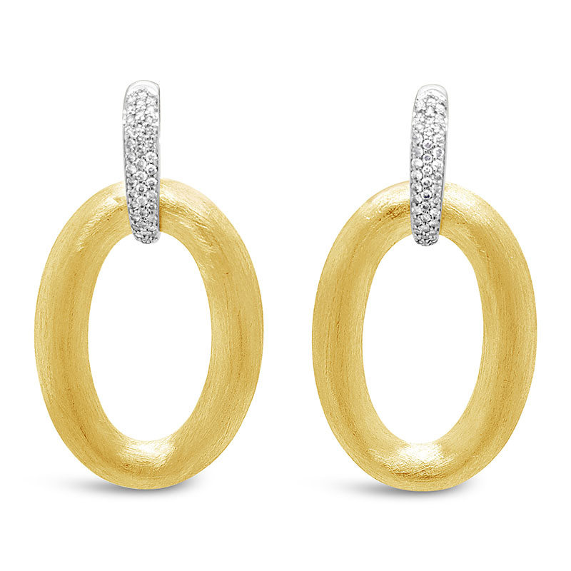Rudolf Friedmann Gold Diamond Earrings
