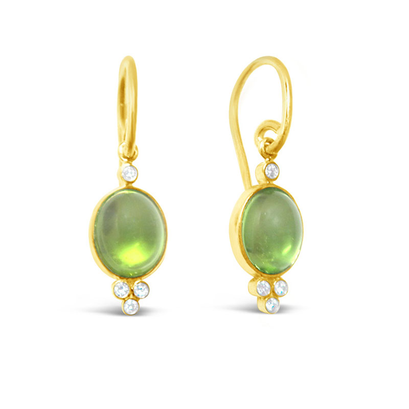 Rudolf Friedmann Gold Peridot and Diamond Earrings