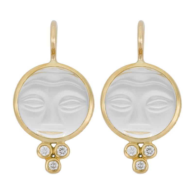 Temple St. Clair Moonface Earrings
