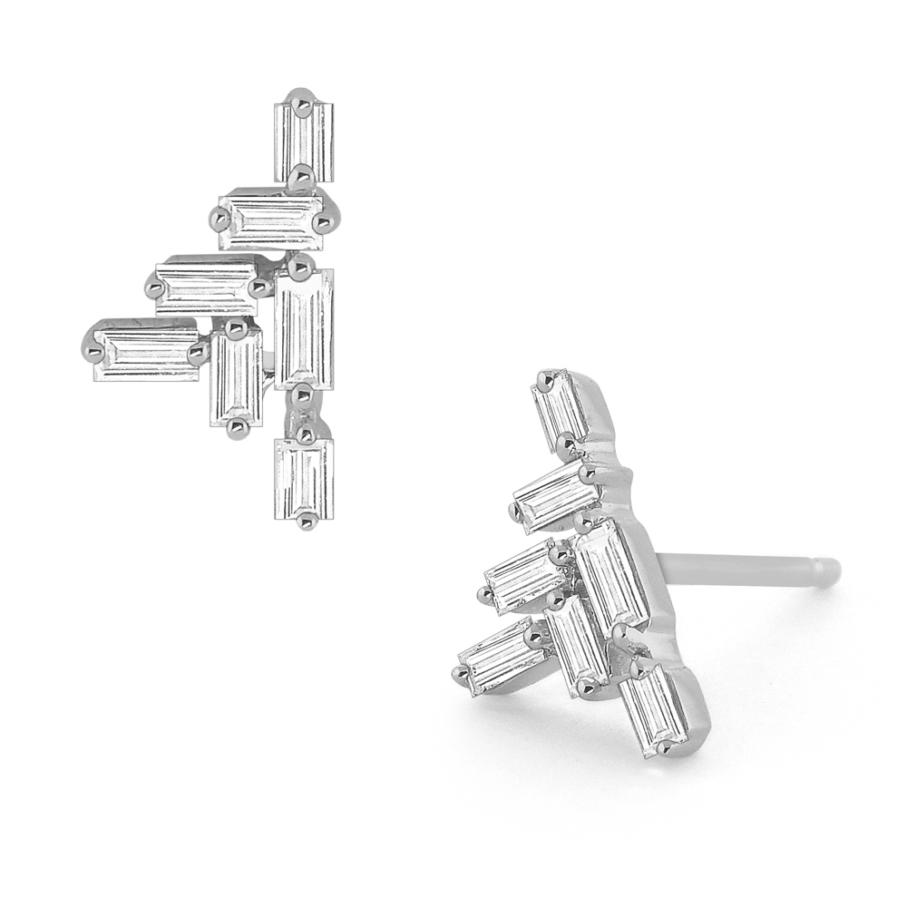 Deutsch Signature Diamond Cluster Stud Earrings