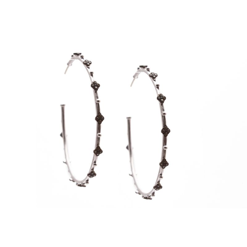 New World Diamond Crivelli 52Mm Hoop Earring