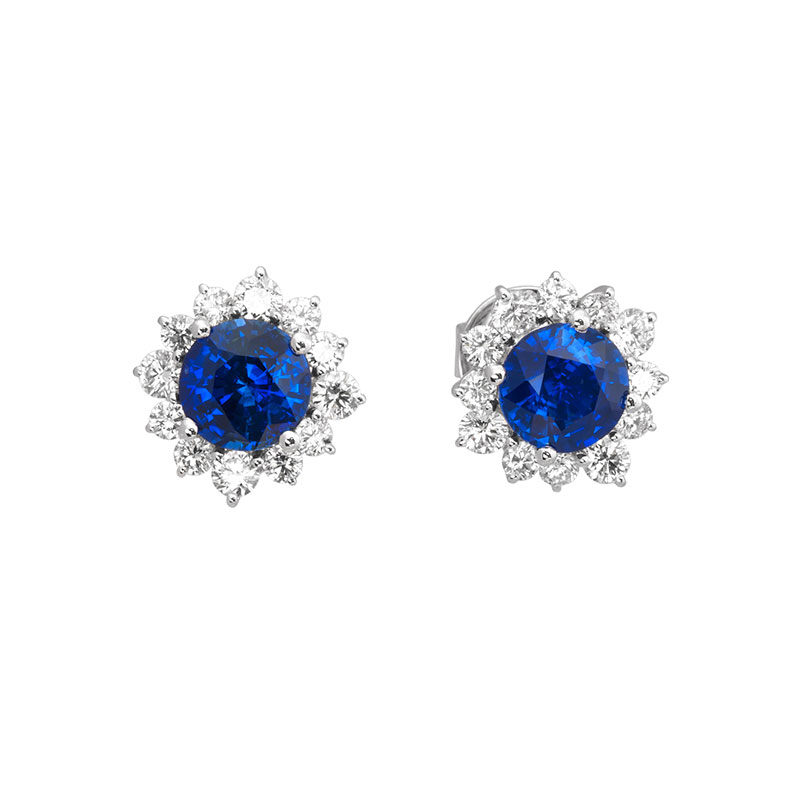 Jye's Sapphire Halo Earrings