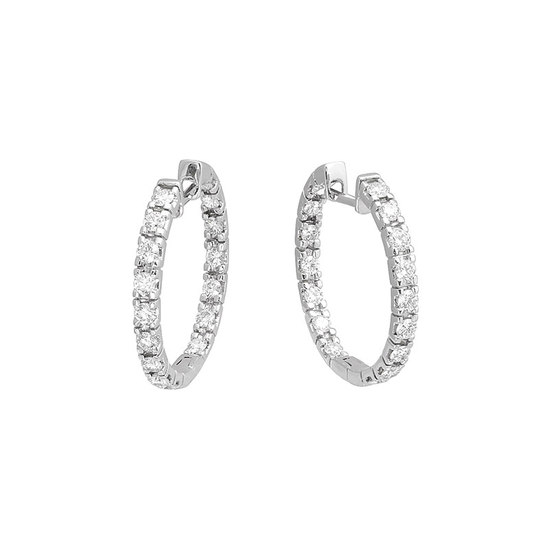 Jye's Small Inside Out Diamond Hoops