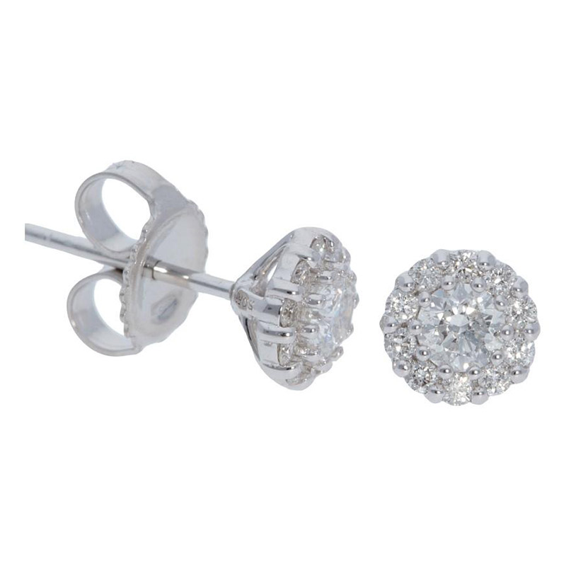 Deutsch Signature Diamond Studs W/ Shared Prong Halo