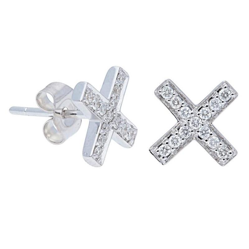 Deutsch Signature X Diamond Pave Stud Earrings