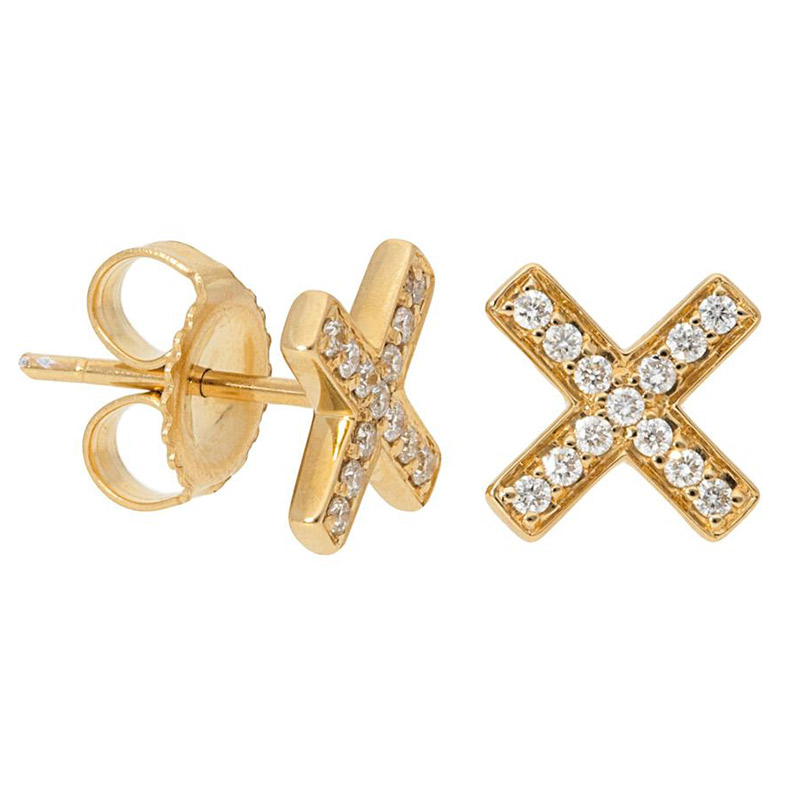 Deutsch Signature X Diamond Pave Stud Earrings