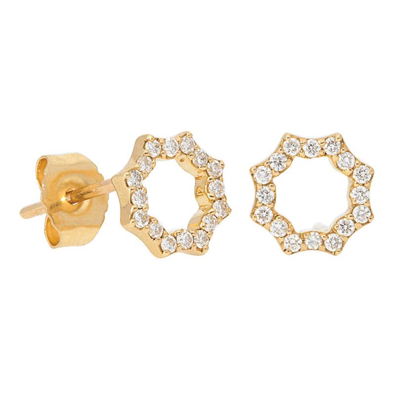 Deutsch Signature Open Pave Diamond Starburst Stud Earrings