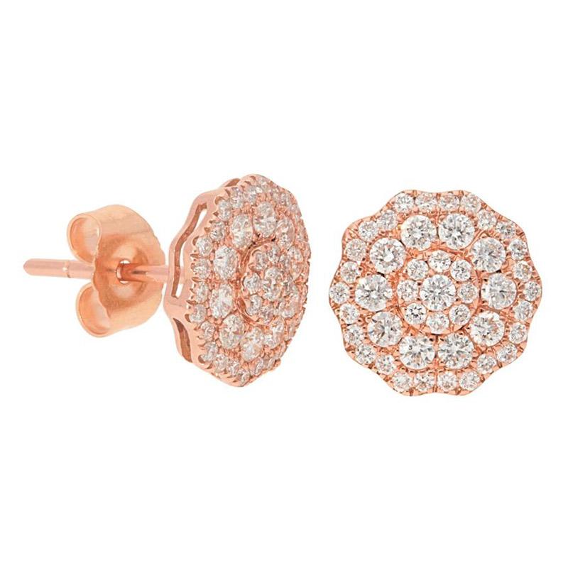 Deutsch Signature Diamond Flower Cluster Stud Earrings