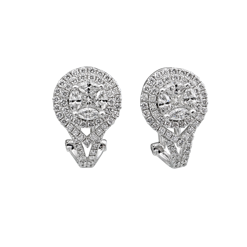 Jye's Marquise cluster Halo Earrings