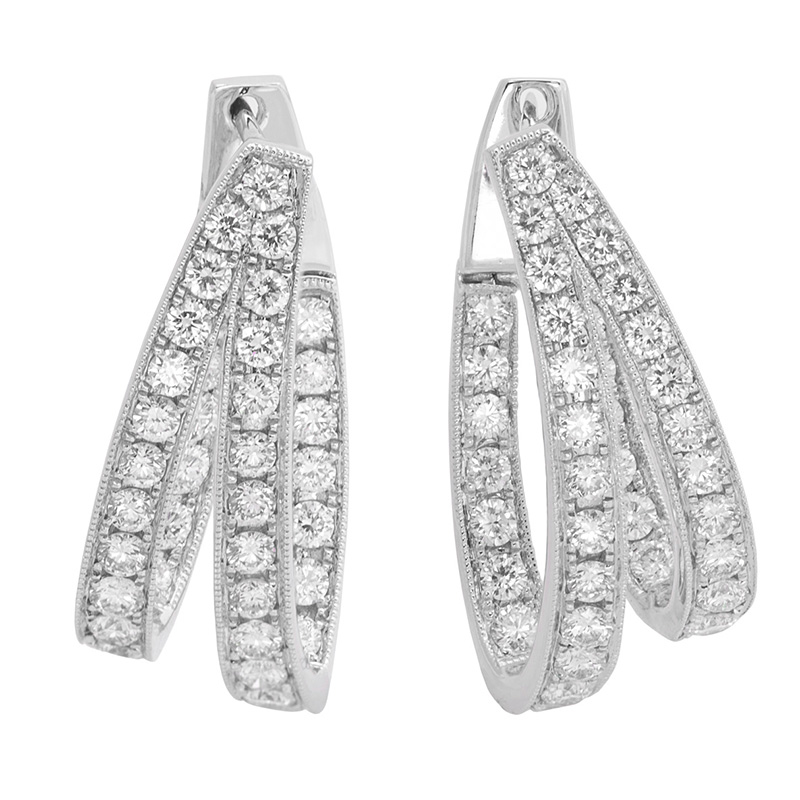 Jye's Diamond Double Hoop Earrings