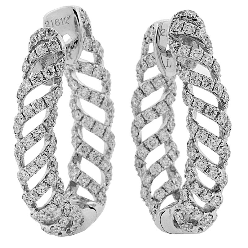 Jye's Diamond Twisted Hoop Earrings