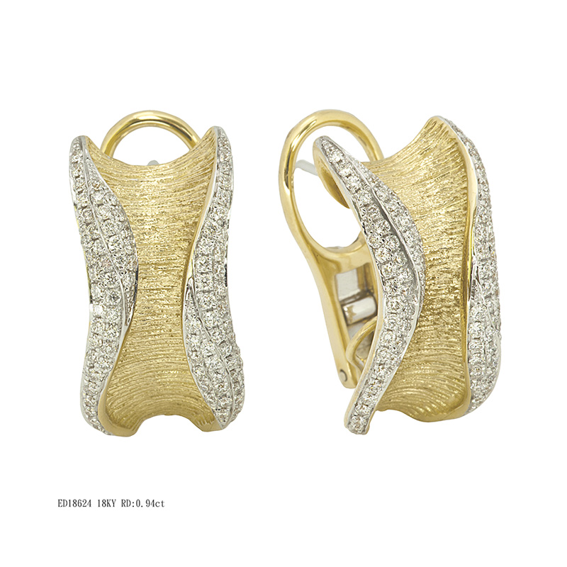 Jye's Pave Diamond twist Earrings