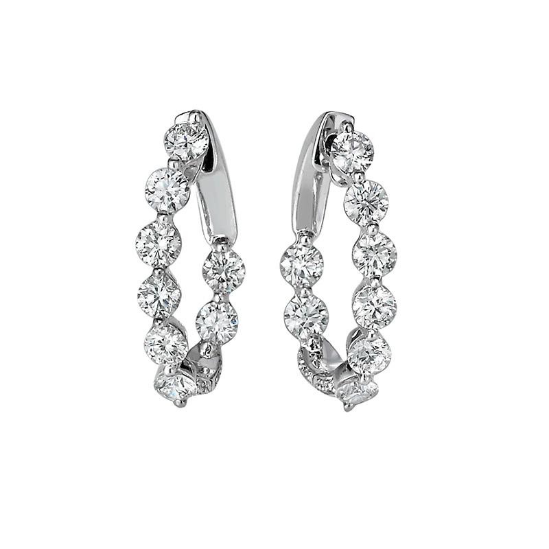 Jye's small Oval Curved Hoop Earrings