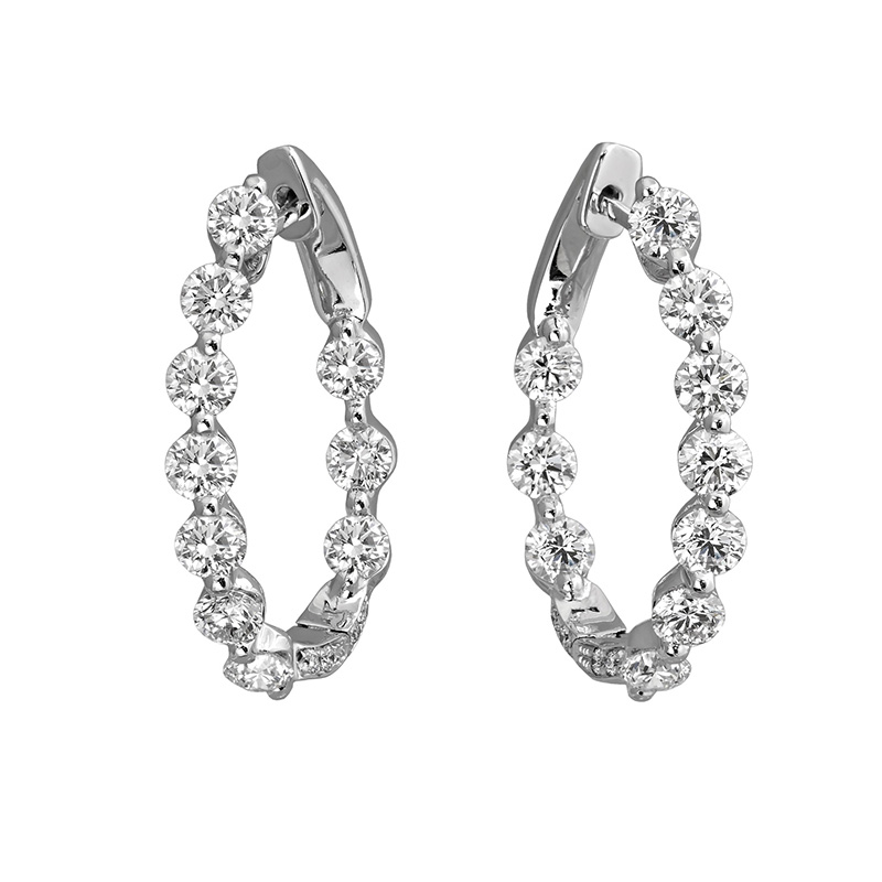 Jye's Diamond Inside Out Hoop Earrings