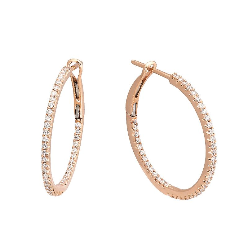 Jye's Small Round Diamond Hoop Earrings