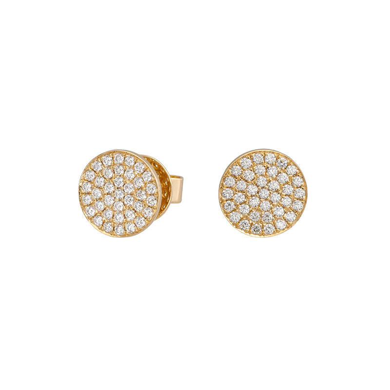 Jye's Pave Circle Stud Earrings