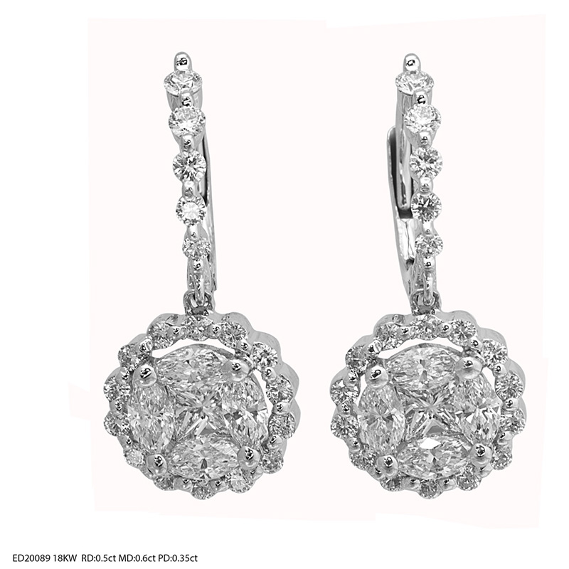Jye's Marquise Drop Diamond Earrings