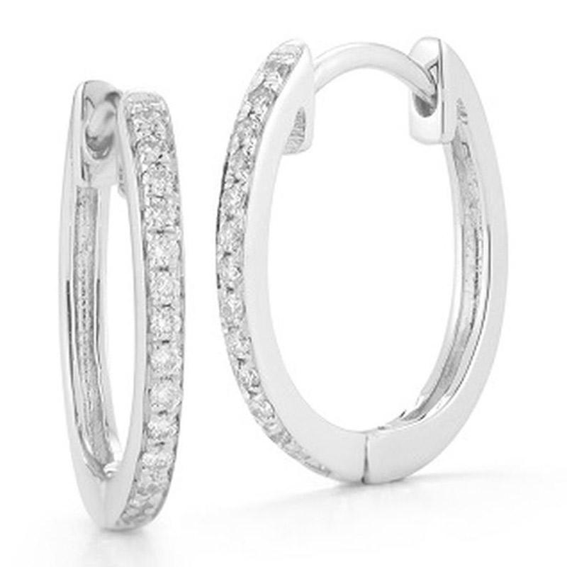 Deutsch Signature Pave Diamond Huggie Earrings