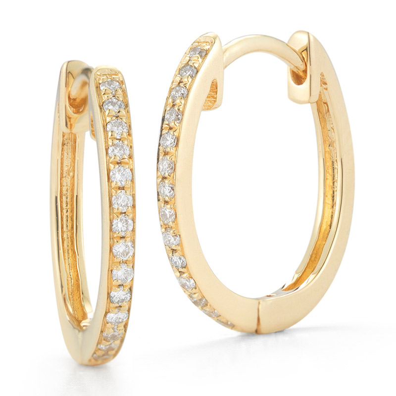 Deutsch Signature Pave Diamond Huggie Earrings