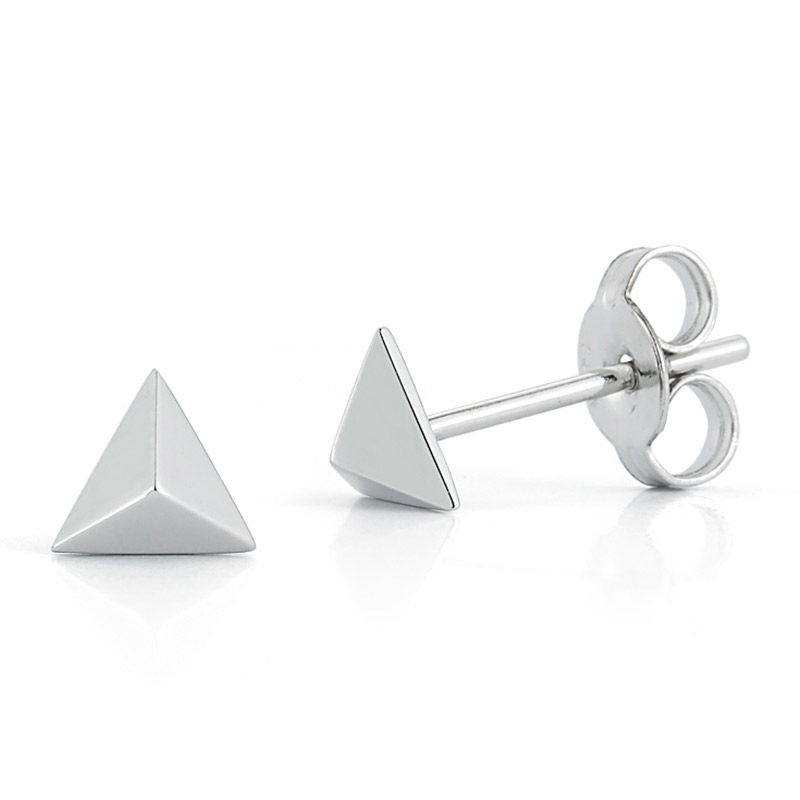 Deutsch Signature Pyrmaid Stud Earrings
