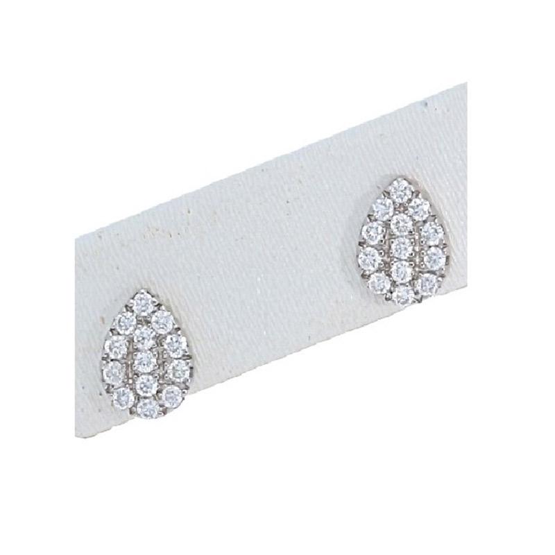 Deutsch Signature Pave Diamond Pear Shape Stud Earrings