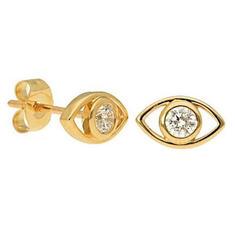 Deutsch Signature Evil Eye Diamond Stud Earrings