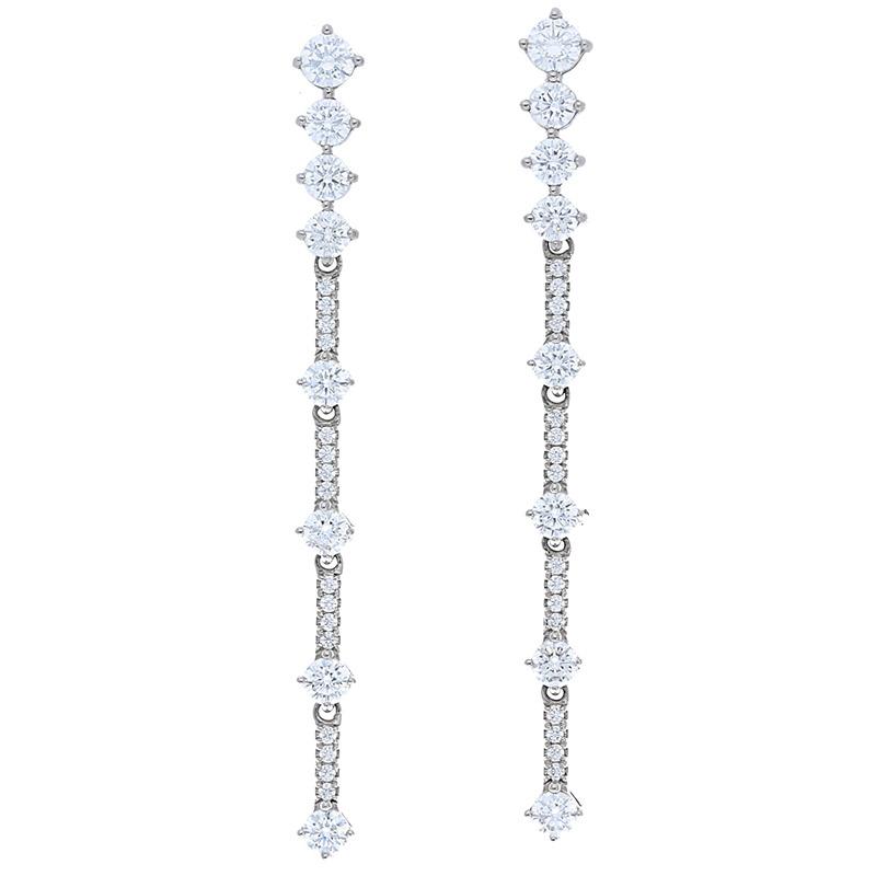 Deutsch Signature One Line Diamond Drop Earrings