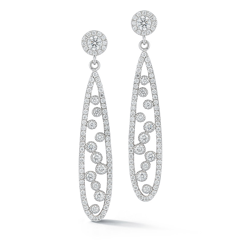 Deutsch Signature Open Teardrop Diamond Earrings