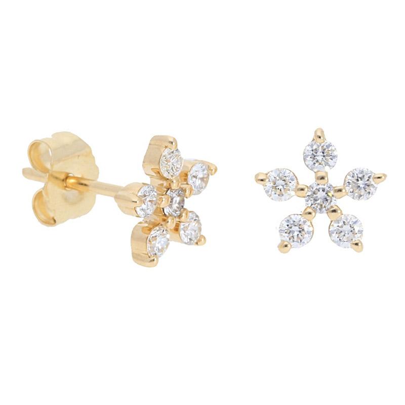 Deutsch Signature Flower Diamond Studs