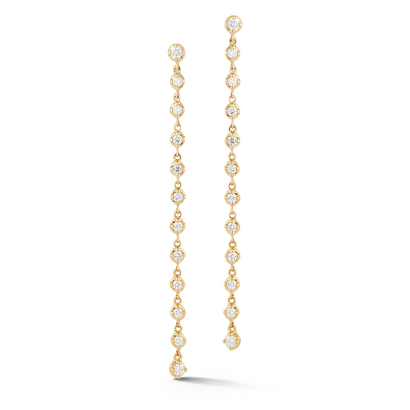 Deutsch Signature Diamond Bezel Drop Earrings