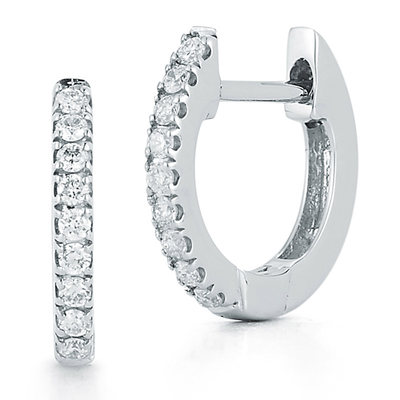 Deutsch Signature Small Diamond Huggie Earrings