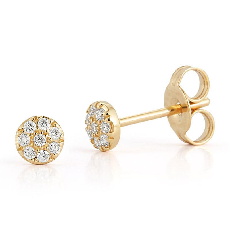 Deutsch Signature Round Shape Diamond Stud Earrings