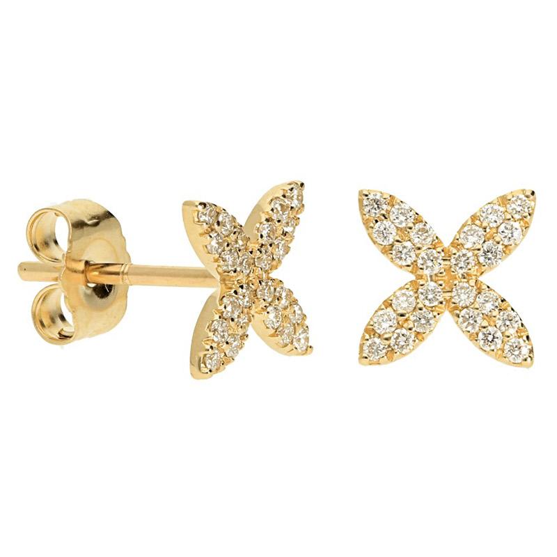 Deutsch Signature Pave Diamond Star Stud Earrings