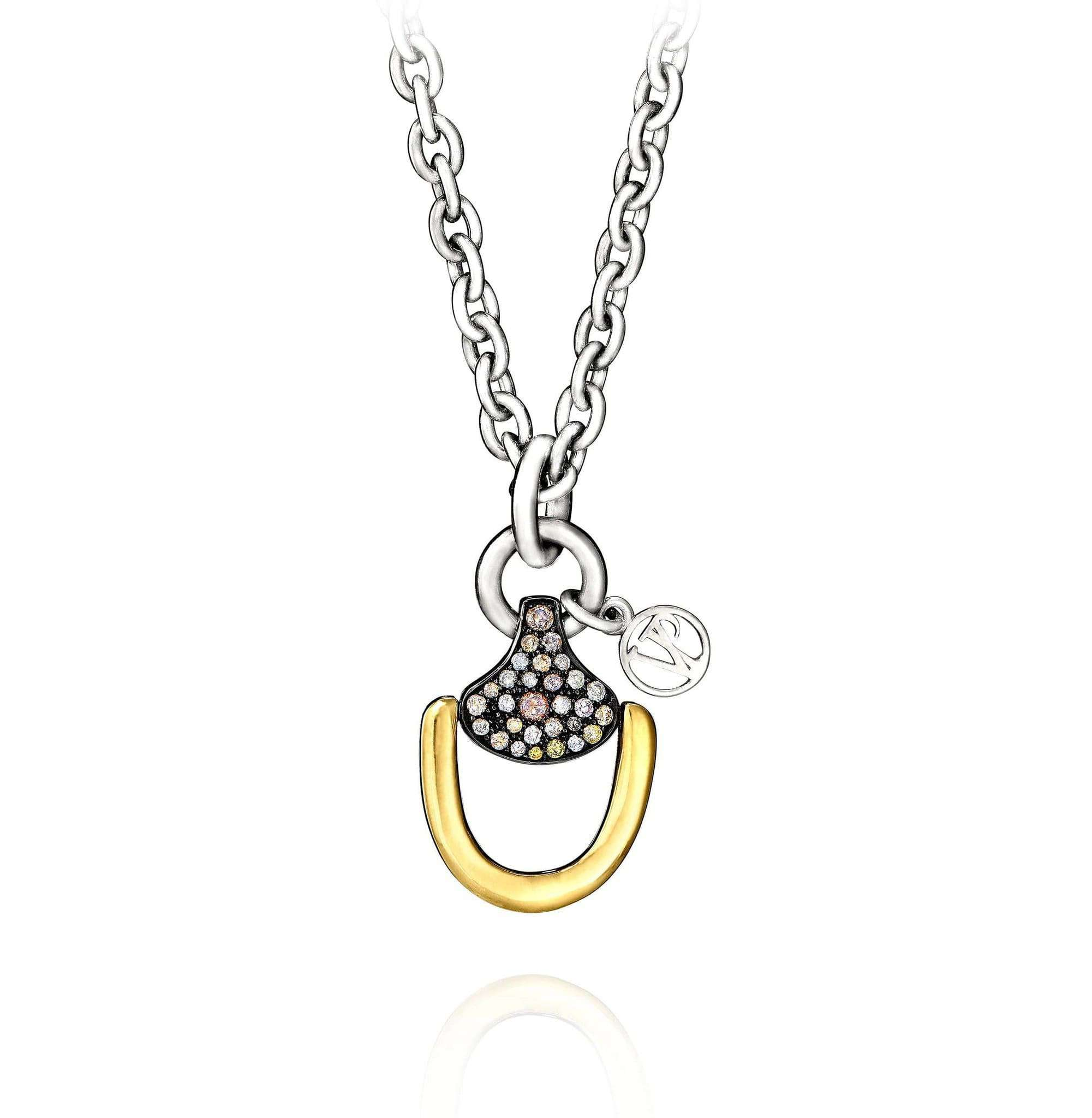 Vincent Peach Churchill Downs Necklace With Multi Diamond
