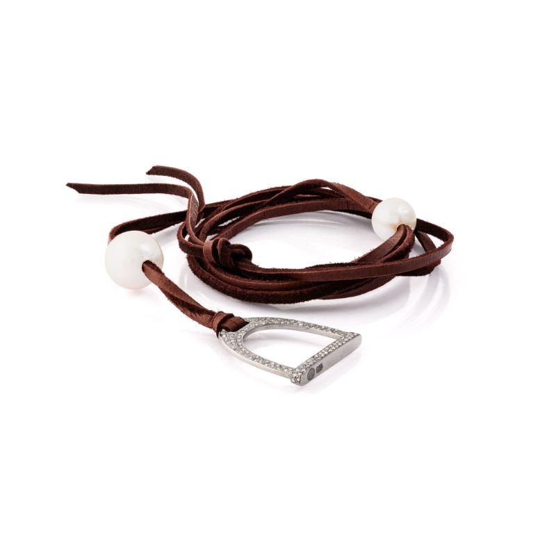 Vincent Peach Demure Stirrup Stallion Necklace