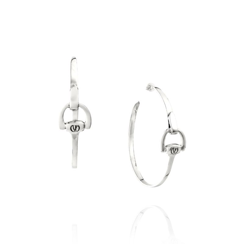 Vincent Peach Equestrian Hoop Earrings