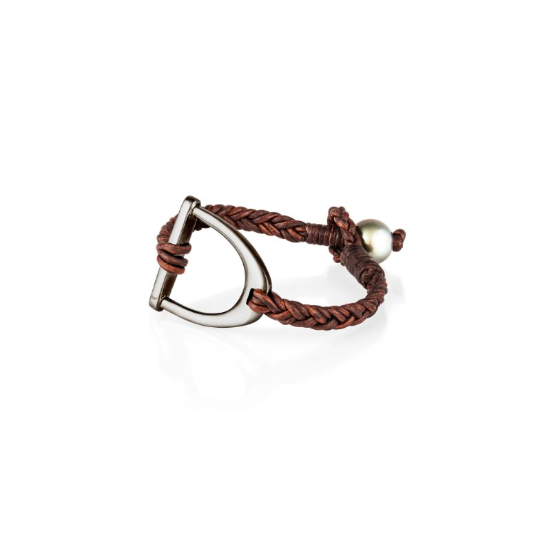 Vincent Peach Derby Stirrup Bracelet