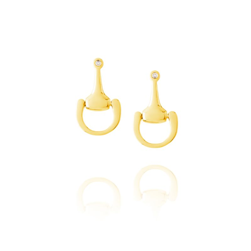 Vincent Peach Small Equestrian Bit Earrings