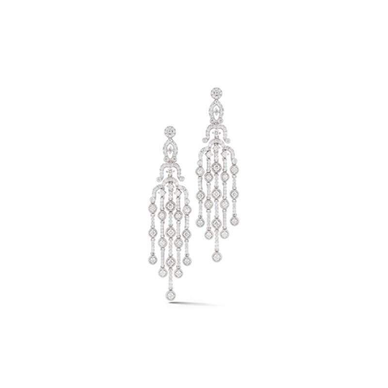 Deutsch Signature Diamond Chandelier Stud Earrings