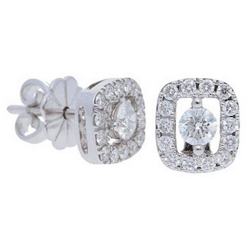 Deutsch Signature Diamond Open Halo Stud Earrings