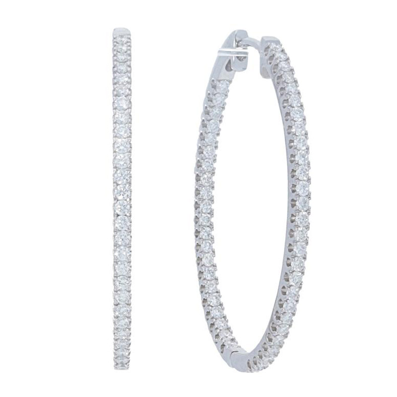 Deutsch Signature Inside and Outside Diamond Hoops