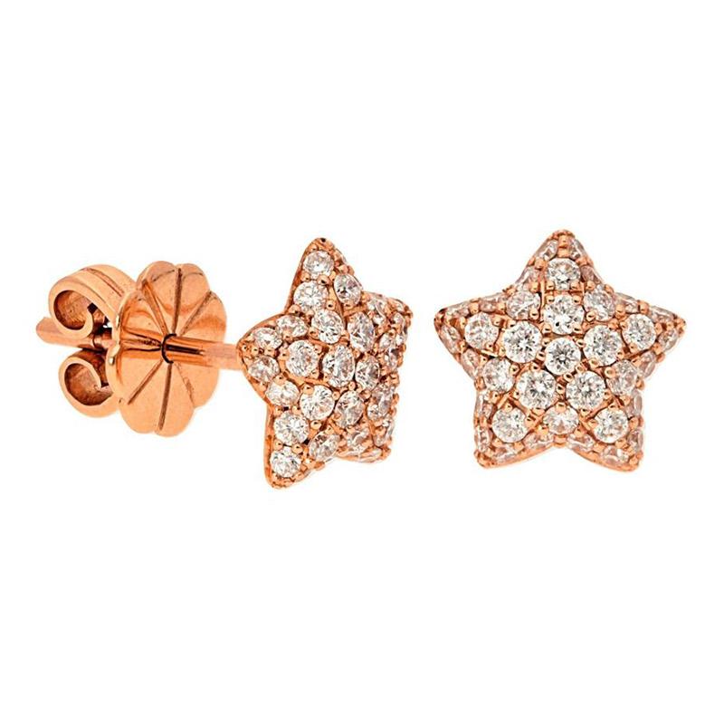 Deutsch Signature Domed Pave Diamond Star Stud Earrings