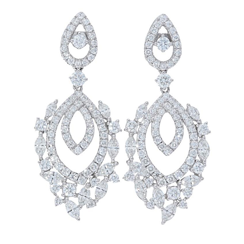 Deutsch Signature Double Marquise Shape Diamond Stud Earrings