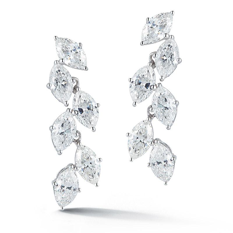 Deutsch Signature Marquise Diamonds Leaf Earrings