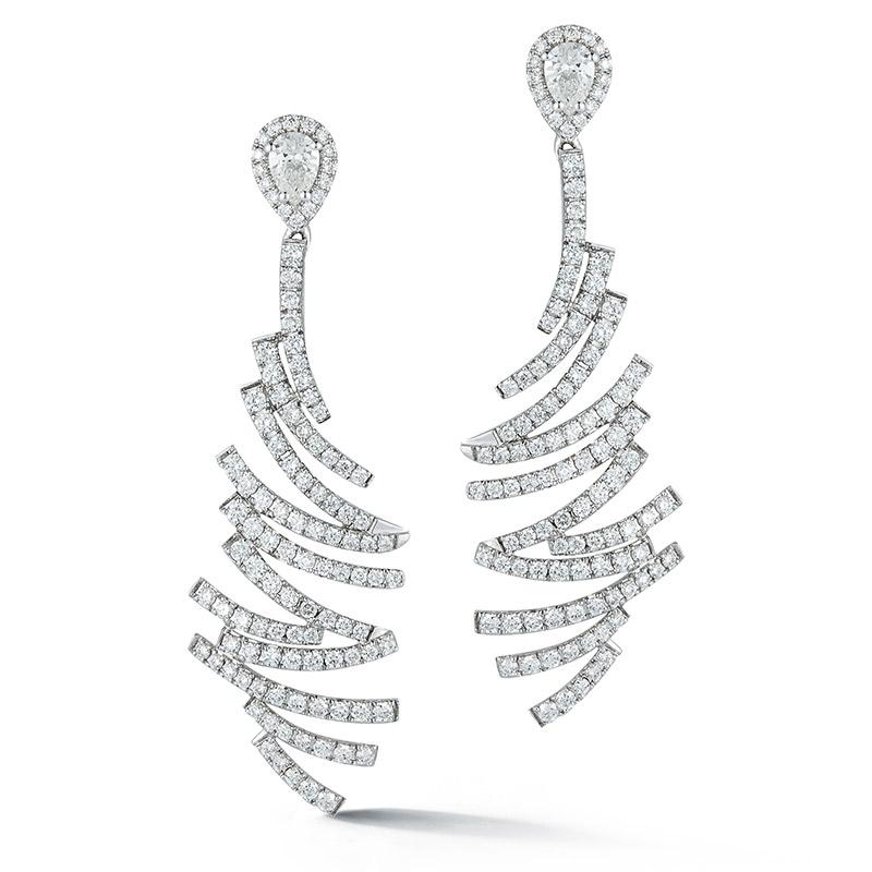 Deutsch Signature Geometric diamond Drop Earrings